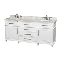 wyndham collection wyndham collection quot berkeley white double vanity amp carrera marble top : 55 inch double sink bathroom vanity