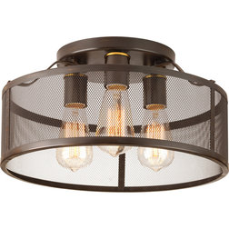 Industrial Flush-mount Ceiling Lighting by Buildcom