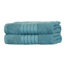 Luxury Towels Jumbo Bath Sheets Large Bale, Teal, Set of 2