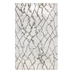 Loft 3101-109 Area Rug, Ivory and Gray, 10'x14'