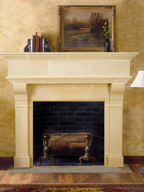 Brunswick Cast Stone Fireplace Mantel - Indoor Fireplaces - Cast Stone Fireplace Mantels