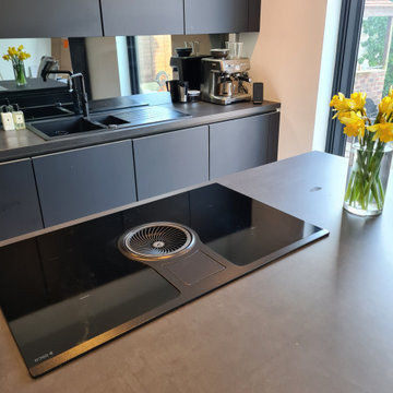 EasyTouch Graphite with Black Concrete Worktops