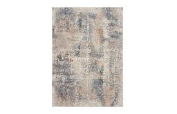 """Rustic Textures Area Rug, Beige/Gray, 5'3""""x7'3"""""""