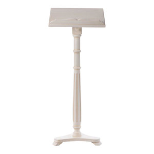 Traditional Stylish Lectern, Solid Walnut Wood With Adjustable Height