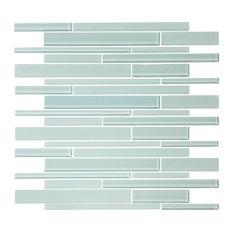 "12""x12"" Seafoam Glass Strip Mosaic"