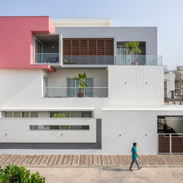 Pink cube House