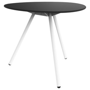 Dine A-Lowha Dining Table, Black, White Frame