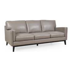 Osman Dark Gray Full Leather Sofa