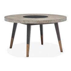 Magnussen Ryker Round Dining Table Black/Gray