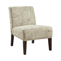 Contemporary White Fabric Armless Accent Chair Accent Seating. Small  Upholstered Swivel Chair