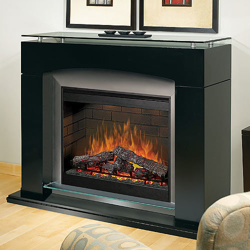 Dimplex - Laguna Black Contemporary Electric Fireplace - SOP-285-B - Indoor  Fireplaces - Electric Fireplace Mantel Packages