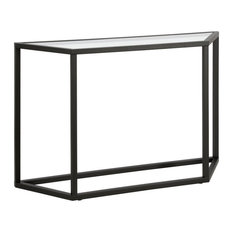 Henn&Hart Metal Black And Bronze Finish Geometric Console Table