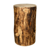 Montana Log Wood 18   Cowboy Seating Stump In Stain And Lacquer MWGCCBOY18