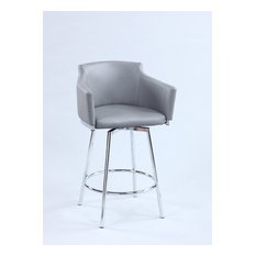 Chintaly Imports Club Counter Stool With Memory Swivel DUSTY-CS-GRY