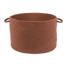 "Rhody Rug Wear Ever Almond Poly 18""X12"" Basket"