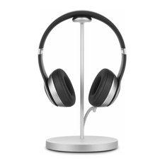 Fermata, Luxury Headphone Charging Stand, Silver