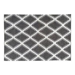 Petter Diamond Indoor/Outdoor Rug, Grey, 300x200 cm