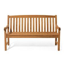 Teak Deals - Devon Outdoor Teak Bench, 5' - Outdoor Benches