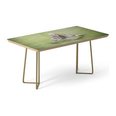 "Society6 Coffee Table, Birch, Steel, 17"", Guardian of The Lake"