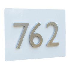 "12""x8"" Address Plaque, White"