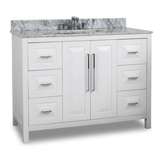 Hardware Resources Jeffrey Alexander VAN104-48-T Bathroom Vanity, White, 48""