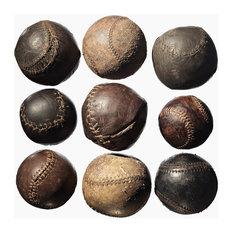 Nine Vintage Baseballs, Photograph, Unframed,40''x52''