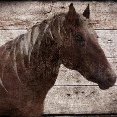 """Malibu Horse Large Modern Horse Print, 24""""x36"""""""