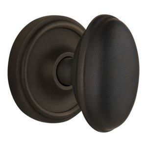 Passage Nostalgic Warehouse Rope Rosette with Craftsman Knob Oil-Rubbed Bronze 2.75