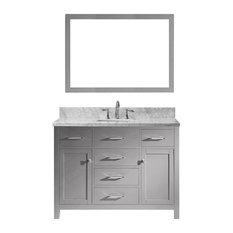 "Caroline 48"" Single Bathroom Vanity, Cashmere Gray With Square Sink"