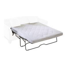 Microfiber Harmony Sofa Mattress Pad, White, Queen