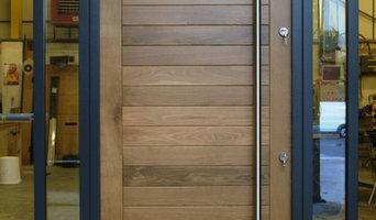 Oak Front Door - Satini Large in Oak Colmar
