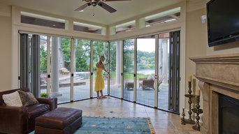Opening Glass Wall System with screen