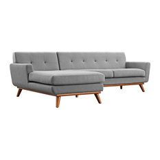 Expectation Gray Engage Left-Facing Sectional Sofa