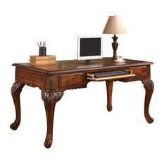 Furniture Import U0026 Export Inc.   CDExecutive Traditional Office Desk With  Hand Carved Designs