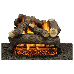 24 Cordoba Logs Double Manual Safety Pilot Burner Tube Liquid Propane Rustic Fireplace Grates And Andirons By Shop Chimney Houzz