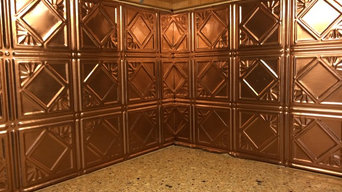 Metallic wall covering projects