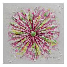 """FlowerPower"" Acrylic Painting, 60x60 cm"
