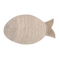 Fish Washable Rug, 180x110 cm