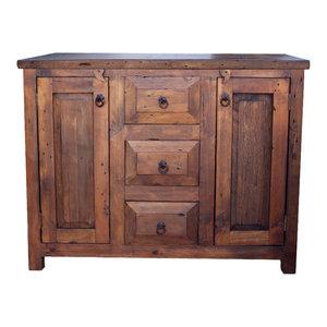 3-Drawer Reclaimed Wood Vanity, Espresso, 36