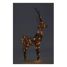 LED Wicker Stag