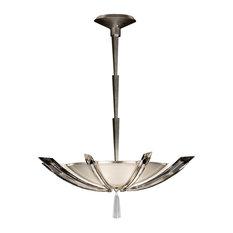 Fine Art Lamps 799040ST Vol de Cristal Platinized Silver Leaf Pendant