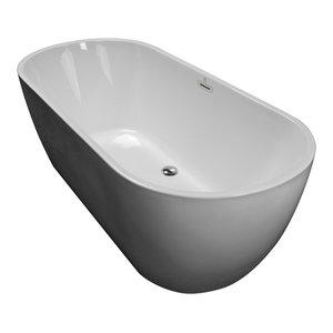 Monet 34 X 71 Oval Freestanding Bathtub W Whirlpool