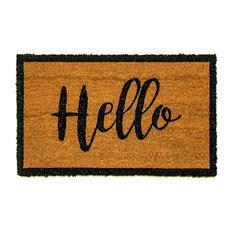 """Vale Cursive """"Hello"""" Doormat, 24""""x36"""""""