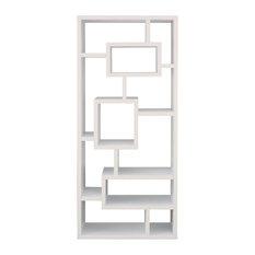 Furniture of America Hazo Modern Bookcase in White