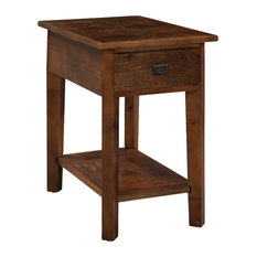 Bolton Furniture - Revive Reclaimed Chairside Table, Natural - Side Tables And End Tables