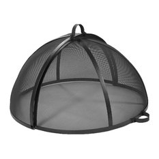 "Sunnydaze Easy Access Fire Pit Spark Screen Lid Protector, 36"" Diameter"