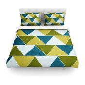 "Catherine McDonald ""Mediterranean"" King Featherweight Duvet Cover"