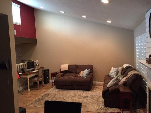 Need help decorating large wall (vaulted ceiling).