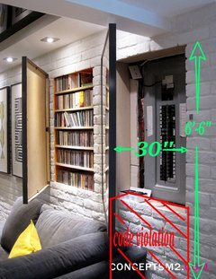 how to hide a fuse box?  houzz