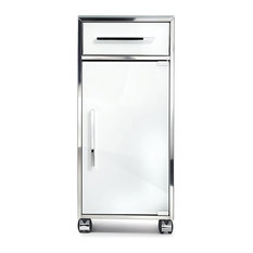 DWBA Trolley Brass Mobile Cabinet Storage Wheel Office Cabinet With Door
